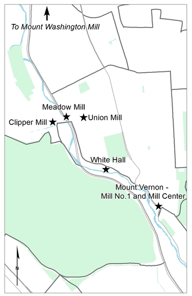 Map of Historic Jones Falls Mills
