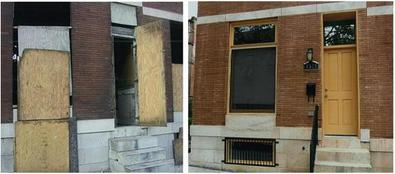 Closeup of Window & Door Before & After Rehabilitation