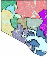 Map of community planning districts