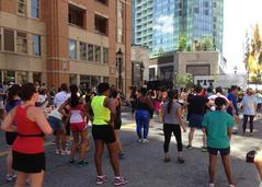 Photo of Fit Fest Participants in Harbor East