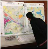 Photo of Citizen examining new zoning map