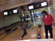Planning Staff Enjoying Duck pin Bowling