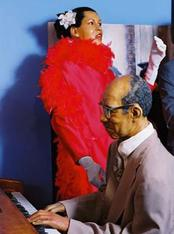 Wax Figures Eubie Blake and Billie Holiday at Great Blacks in Wax Museum