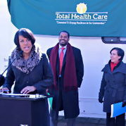 IMAGE: Mayor Rawlings-Blake, Councilman Nick Mosby, Health Commissioner Dr Oxiris Barbot