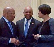 IMAGE: Congressman John Lewis, Congressman Elijah Cummings, Mayor Rawlings-Blake