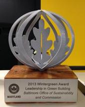 Photo of Evergreen Award Trophy