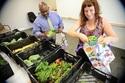 Image of staff sorting veggies for CSA