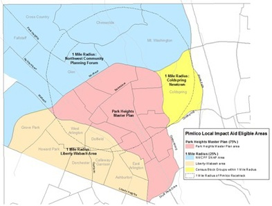 Pimlico Local Impact Area Map