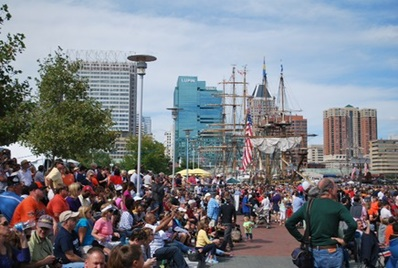 View of the Crowds at Sailabration 2014