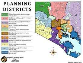 Image of Community Planning District Map with Contact Information
