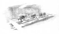 Drawing of Design for Median for 33rd Street near Union Memorial Hospital