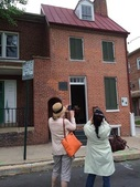 Tourists at Poe House Museum