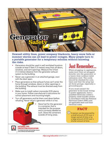 NR - Statewide - Generator Safety