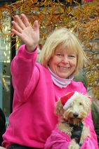 Nancy Floreen and dog