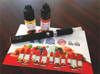 electronic cigarette with flavoring bottles