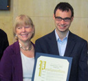 Nancy Floreen presenting a proclamation to Michael Hofmann Winer