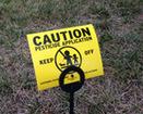 caution pesticide application