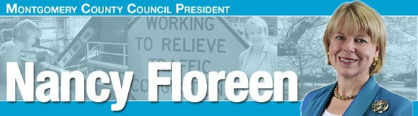 Masthead that says Nancy Floreen's Montgomery in Focus