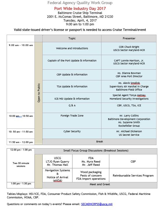 Industry Day Agenda