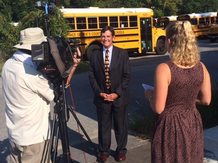 "Leon Langley, MSDE's Director of Pupil Transportation, discussed bus safety with ABC's ""Good Morning America,"" as students headed back to school."