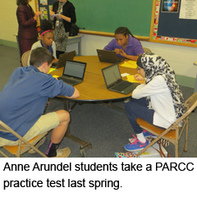 Anne Arundel students take a PARCC practice test last spring.