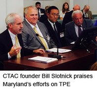 CTAC founder Bill Slotnick praises Maryland's efforts on TPE.