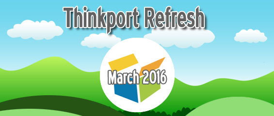 image announcing Thinkport Refresh in March 2016