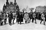 Lenin and troops in Red Square, 1919