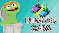 Oscar the Grouch and bumper cars