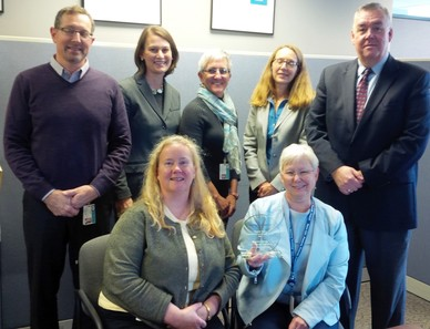 Maine CDC staff receives the March of Dimes Virginia Apgar Prematurity Campaign Leadership award