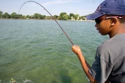 Bass fishing in Michigan