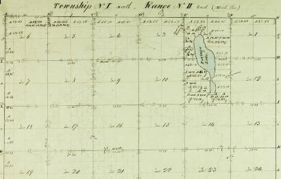 Stockbridge Township plat map - portion