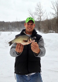 Aaron Slagh with white perch