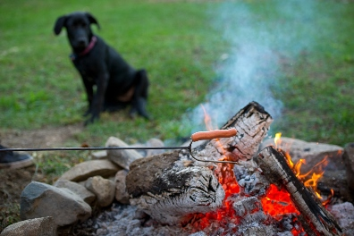 Make sure your campfire is out cold before turning in!