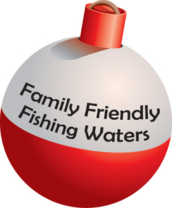 Family Friendly Fishing Waters bobber graphic