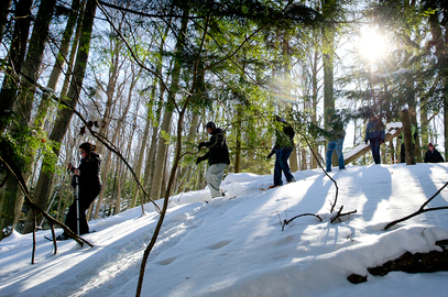 Work up a sweat with snowshoeing, cross-country skiing and other cold-weather fun