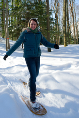 Snowshoeing is a fun and healthy way to enjoy Michigan state parks