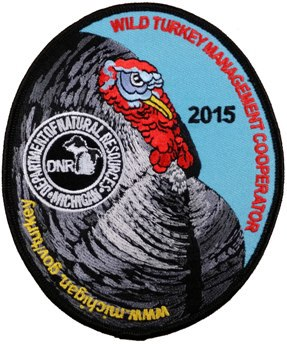 DNR unveils 2015 turkey cooperator patch, reminds hunters to apply