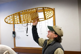 Making your own snowshoes at Michigan state parks