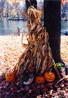 Fall decorations at Yankee Springs Recreation Area