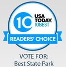 USA Today 10Best Readers' Choice graphic: Best State Park