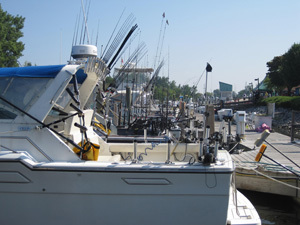 Charter fishing boats at the dock