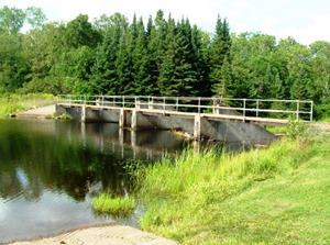 The Presque Isle River Dam in Marenisco Township, Gogebic County.