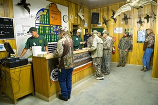 Hunters in line at Fish Point State Game Area