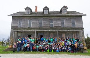 Michigan Cares for Tourism volunteers at Fayette Historic State Park