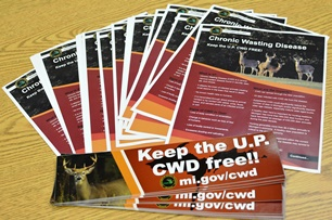 CWD fact sheets, bumper stickers