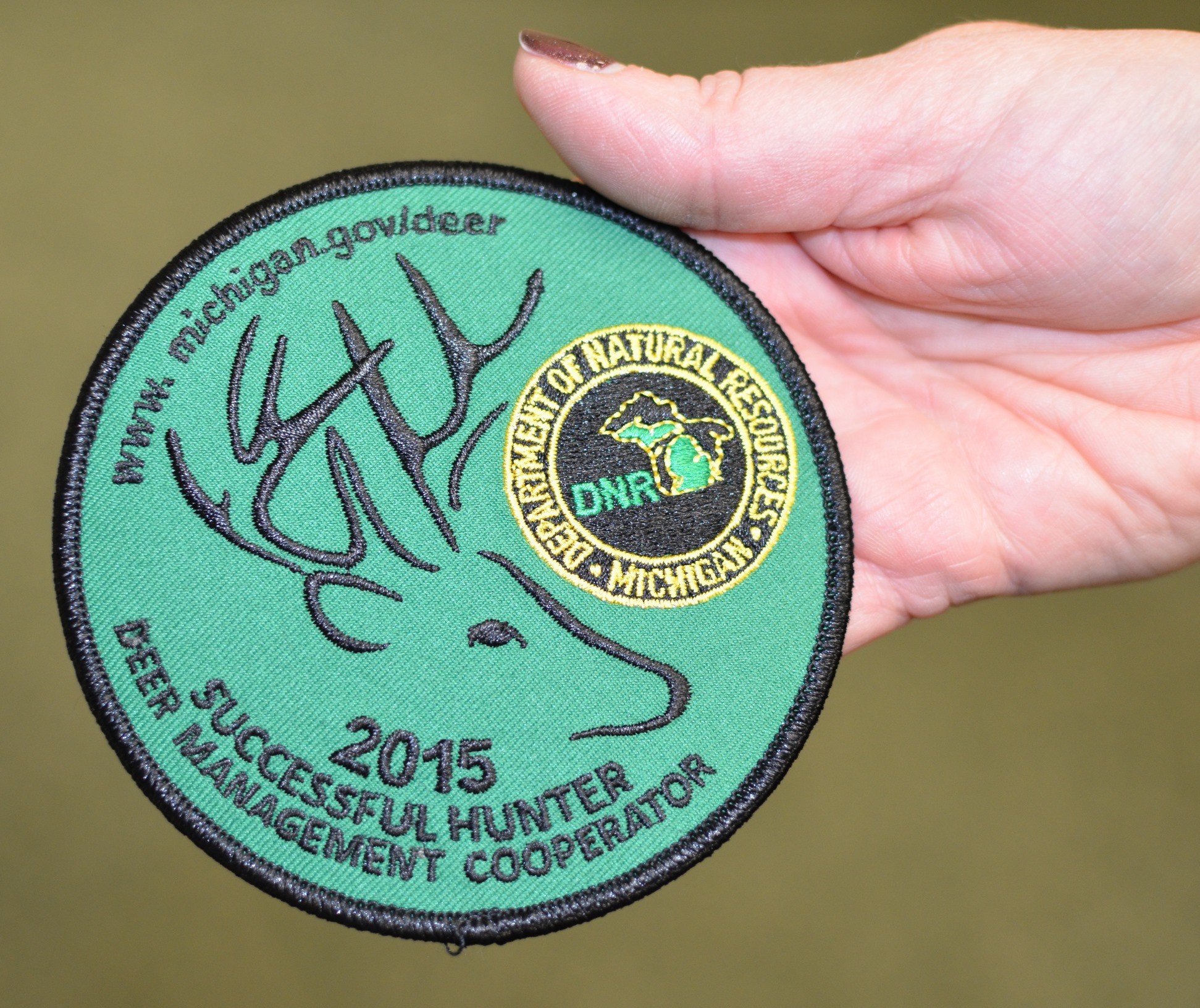The 2015 DNR Successful Hunter patch