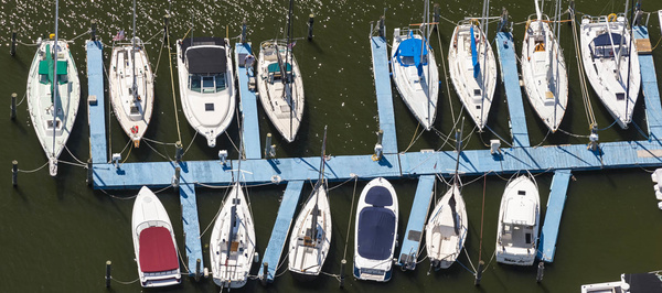 Aerial marina image