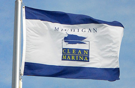 Clean Marinas Flag - via Michigan Sea Grant