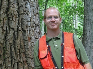 head-and-shoulders view of Michigan DNR forester Mike Smalligan, recently named forester of the year by Society of American Foresters